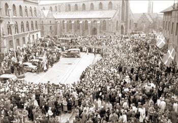 Flakhaven på befrielsesdagen, 5. maj 1945